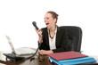 canvas print picture - Sekretärin am Telefon