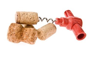 cork-screw and cork