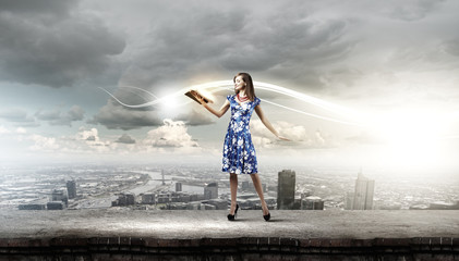 Woman with book