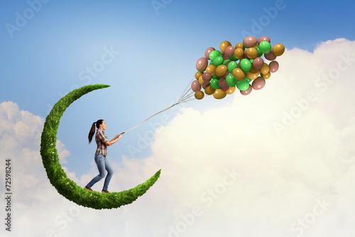 Leinwandbild Motiv Bunch of balloons