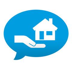 Etiqueta tipo app comentario venta de pisos