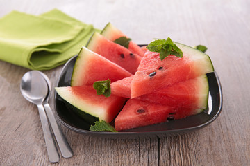 sliced of watermelon