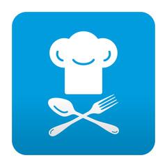 Etiqueta tipo app gorro de chef