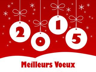"""Carte """"MEILLEURS VOEUX"""" (joyeux noël bonne année joyeuses fêtes)"""