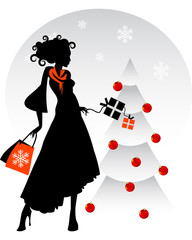 Donna addobbi Natale