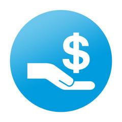 Etiqueta tipo app redonda crowdfunding
