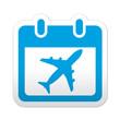Zdjęcia na płótnie, fototapety, obrazy : Pegatina simbolo calendario vuelo