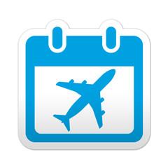 Pegatina simbolo calendario vuelo