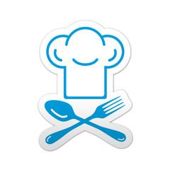 Pegatina simbolo chef