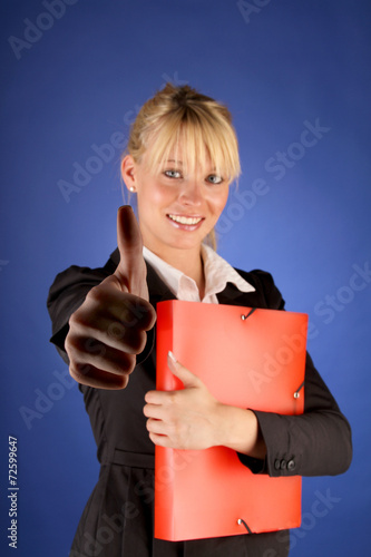 canvas print picture Businessfrau