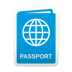 Pegatina simbolo passport
