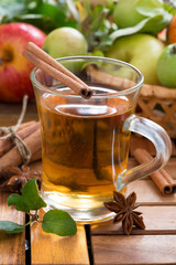 spiced apple cider in a mug