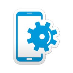 Pegatina simbolo smartphone configuracion
