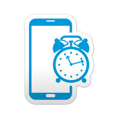 Pegatina simbolo smartphone despertador