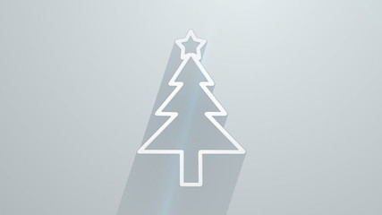 christmas tree shape with long shadows last 10s loop