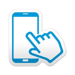 Pegatina simbolo smartphone pantalla tactil