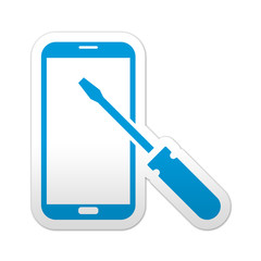 Pegatina simbolo smartphone reparacion