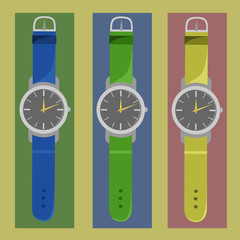 Watches of different colors