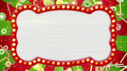 flash light bulbs banner and christmas candy canes loop