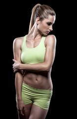 Beautiful young woman in great shape