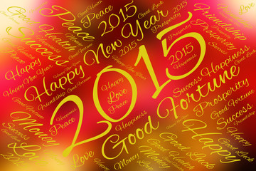 Greeting Card Happy New Year 2015