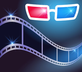 3d glasses and film strip