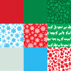 different set of christmas backgrounds