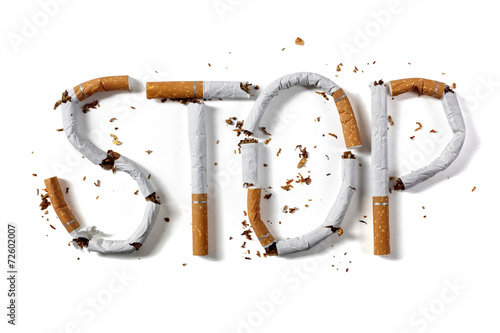 Leinwandbild Motiv Stop smoking