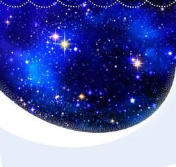 Christmas night sky background .
