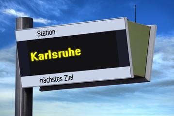 Anzeigetafel 6 - Karlsruhe