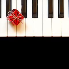 Gift box on piano keys