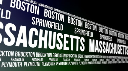 Massachusetts State and Major Cities Scrolling Banner