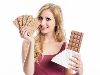 Knäckebrot statt Schokolade