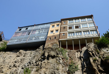 Traditional georgian architecture in Abanotubani, Tbilisi