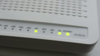 Internet modem - closeup