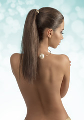 woman with sexy naked back
