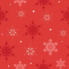Christmas Seamless Snowflakes