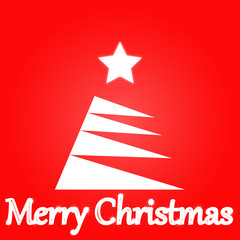 merry-christmas-tree--white-star--background