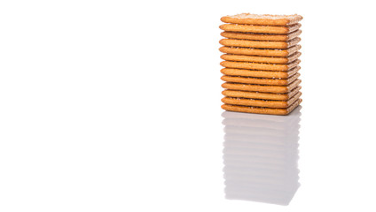 Sugar crackers over white background