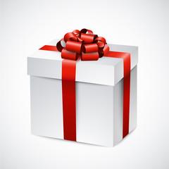 Realistic 3d gift box.