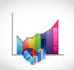 lead generation business graph illustration design