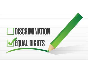 equal rights selection illustration design