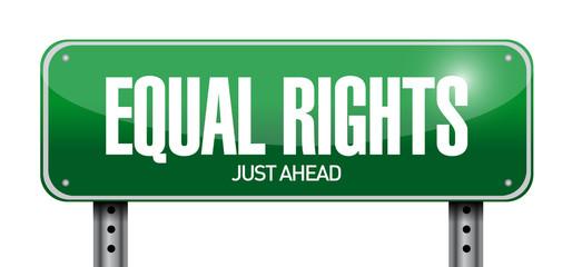equal rights sign illustration design
