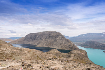 Besseggen ridge at Jotunheimen National Park 2 lakes