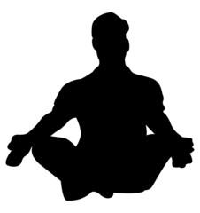 Yoga Man Silhouette