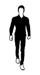 Walking Man Silhouette