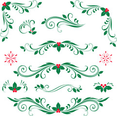 Scroll Set Holly