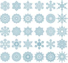 30 Snowflake Vectors