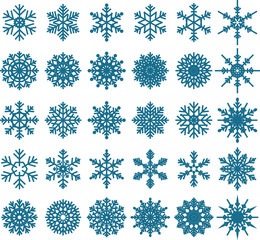 30 Snowflake Vectors for you design