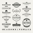Retro Vintage Insignias or Logotypes set vector design elements - 72607287